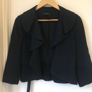 Ann Taylor Cropped Suit Jacket Frilly Size 2